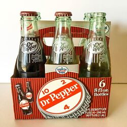 Authentic Collectible Dublin Dr. Pepper Bottles Six Pack Pure Cane Sugar