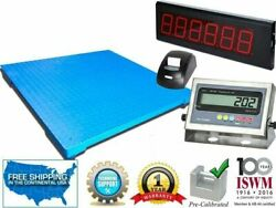 Industrial Floor Scale 48 X 60 With Printer And Scoreboard 10000 Lbs X 1 Lb