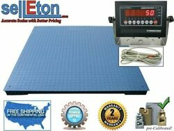 Op-916-7x7 Heavy Duty Industrial Floor Scale Led Display 7andrsquox7andrsquo 84andrdquo 10000lb X 1lb