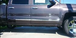 2009-2014 Ford F-150 Body Side Molding Crew Cab 2.5 Width Square End 4pcs