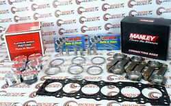 Manley Pistons And Rods And Arp Studs W/ Toyota Gasket For Supra 2jzgte W/ 94mm 3.4l