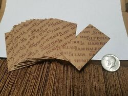 800 Pack Half Dollar Pop-open / Flat Paper Coin Wrappers. Tubes For Halves