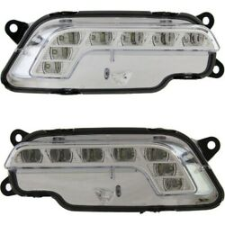 Driving Lights Lamps Set Of 2 Left-and-right For Mercedes E Class Coupe Pair