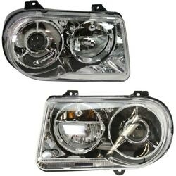 Headlight Lamp Left-and-right Ch2502167 Ch2503167 Lh And Rh For Chrysler 300