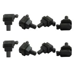 Ignition Coils Set Of 8 Left-and-right For Mercedes Cl Class E S Sl Lh And Rh S500