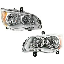 Headlight Lamp Left-and-right For Town And Country Lh And Rh Ch2503192 Ch2502192