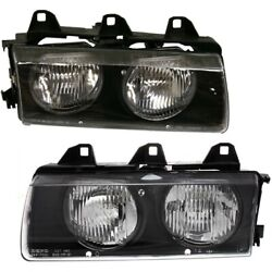 Headlight Lamp Left-and-right For 3 Series 318 320 323 325 328 Lh And Rh E36 325i