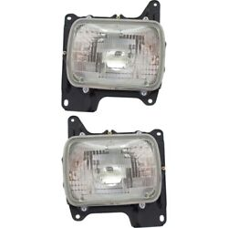 Headlight Lamp Left-and-right For Hardbody Truck Sealed Beam Lh And Rh Nissan D21