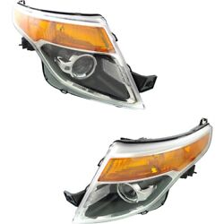Hid Headlight Lamp Left-and-right Hid/xenon Fo2519127, Fo2518127 Lh And Rh