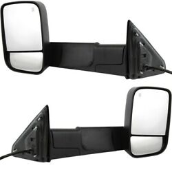 Mirrors Set Of 2 Left-and-right Heated Ch1321350 Ch1320350 Lh And Rh For Ram Pair