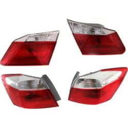 Tail Light Lamp Kit Left-and-right Inside Lh And Rh For Honda Accord 2013-2015