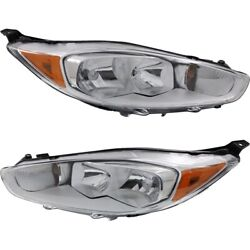 Headlight Lamp Left-and-right D2bz13008m D2bz13008k Lh And Rh For Ford Fiesta