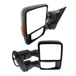 Mirror For 2008-2009 Ford F-250 Super Duty Left And Right Set Of 2 Black