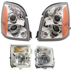 Headlights Lamps Set Of 4 Left-and-right 15926966, 15926967, 15930685, 15930686