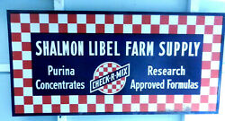 Vintage Grace Sign Company, Purina Research Feed Sign, 94 X 48 Nice