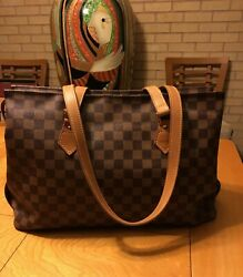 Designer LOUIS VUITTON DAMIER Centenaire Leather Tote Shoulder Bag Handbag LXL $895.00