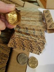 2000 Pack Small Dollar Pop-open / Flat Paper Coin Wrappers. Tubes For Dollars