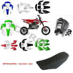 Gas Tank And Plastic Fender Kit And Seat For Crf70 Thumpstar Dirt Pit Bike 140-160cc