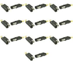 Pollak 12-200 Trailer Wiring Connector 2 Way Molded Flat Type 12 Volts 10 Pack