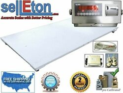 5and039 X 8and039 60 X 96 Industrial Floor Scale And Led Indicator 10k X 1 Lb