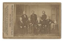 Rare CDV of the Andrew Johnson Impeachment Committee Signed by All Seven Members