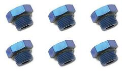 Russell Automotive 660270 Pipe Plug Fitting -6 An Straight Thread 10 Pack