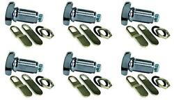 Jr Products 00135 Lock Cylinder Thumb Lock 1-1/8 Inch Length 6 Pack