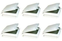 Heng's Industries J291rwh-c Roof Vent Lid Jensen With Pin Hinge White 6 Pack