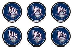 Powerdecal Pwr85001 Decal Nba R Series New Jersey Nets Logo 6 Pack