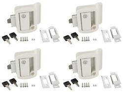 Ap Products 013-571 Entry Door Latch Travel Trailer Lock White With Keys 4 Pack