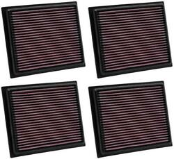 K And N Filters 33-2435 Air Filter Filtercharger R Washable Red 4 Pack