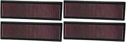 K And N Filters 33-2331 Air Filter Filtercharger R Washable Red 4 Pack