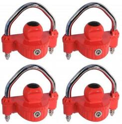 Trimax Locks Umax25 Trailer Coupler Lock Hitch Ball And Clamp Type 4 Pack