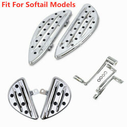 Chrome F+r Floorboards Foot Peg Shift Lever Brake Arm Fit For Softail Models