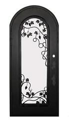 Beautiful Estate Heavy Good R Rated Iron Entry Door With Safety Glass - S38