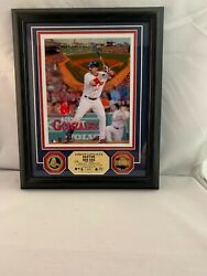 8x10 Boston Red Sox Limited Adrian Gonzalez Gold Coins Highland Mint Mlb Ws24