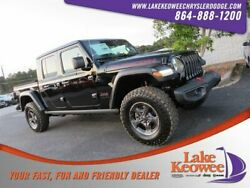 2020 Jeep Gladiator Rubicon 2020 Jeep Gladiator Rubicon 15 Miles Black Clearcoat Crew Cab Pickup Regular Unl