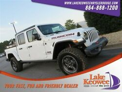 2020 Jeep Gladiator Rubicon 2020 Jeep Gladiator Rubicon 15 Miles Bright White Clearcoat Crew Cab Pickup Regu