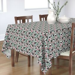 Tablecloth Boston Terrier Dog Christmas Terriers Breeds Frenchie  Cotton Sateen