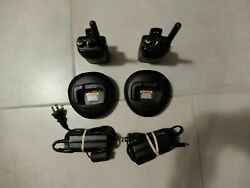 Lot Of 2 Motorola Mag One Bpr40 Two Way Radio Aah84rcs8aa1an / Charger / Power