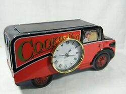 A Large Mantle Quartz Clock from a Red Cookie Tin Super clock .