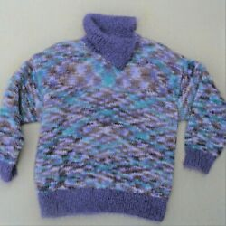 Rare Vintage The Scotch House Cowl Neck Cashmere Pullover Sweater