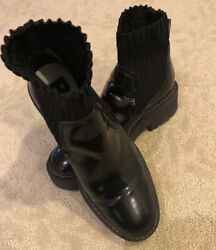 bimba y lola Women Leather Boots Socks Style Size 36 European In Great Confition