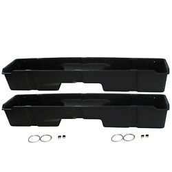 2 Underseat Storage Boxes 1999-2006 Fits Chevy/gmc Silverado/sierra Extended Cab