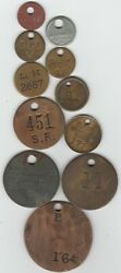 Lot Of 11 Unidentified Pickers Check Tokens