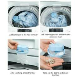 10x Floating Laundry Lint Pet Fur Catcher For Washing Machine Pet Hair Remover
