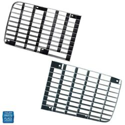 1970-1973 Camaro Rs Rally Sport Front Grille Black Reproduction Pair