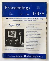 Proceedings Of The IRE Vol 37 #1 January 1949- Important Claude Shannon Article!