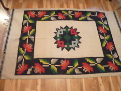 Vintage Thick Cotton Hand Made American Southwest Multi Color Blanket