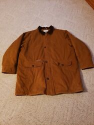 Ll Bean Barn Chore Jacket Menandrsquos 2xl Xx-large Tall Flannel Lined Corduroy Collar